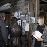 Lisa Nussmüller erzählte was zur Nutzungsgeschichte die durch Archivrecherchen und ZeitzeugInnen-Interviews geschrieben wurde. Bild: Chris Niewo
